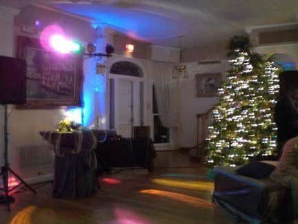 Holiday get togethers are a great place for smooth background music. WE DO small Mixers too.