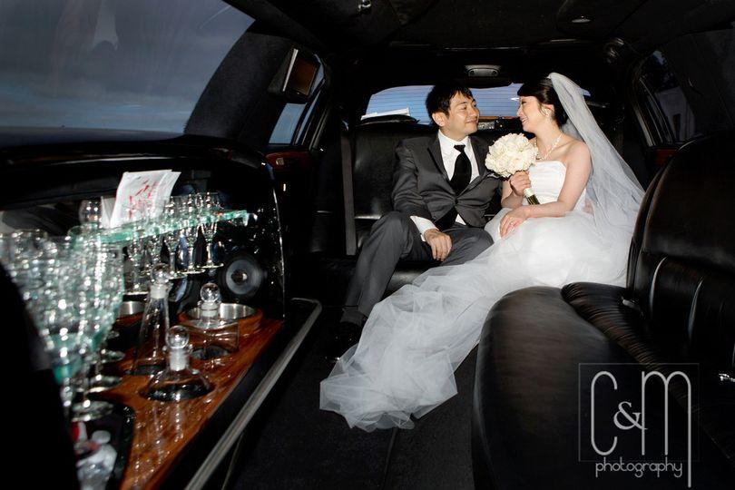 hiromi wedding inside limo