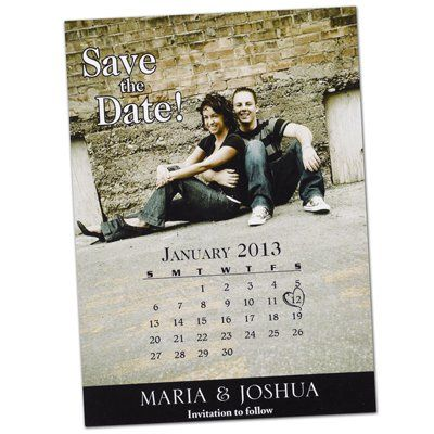 This magnetic photo calendar is a great way to remind your wedding guests to save the date!