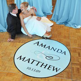 Wedding Floor Decal for Reception Monogrammed with Bride and Groom's Initials