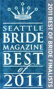 2011 Seattle Bride Magazine Best of Bride Finalist Award