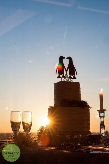 cake sunset