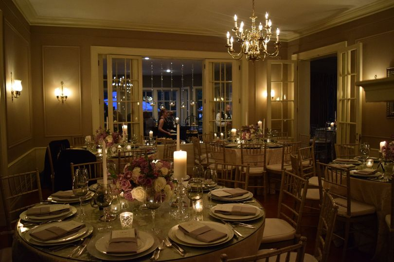 Dining area in a dim-lights set-up