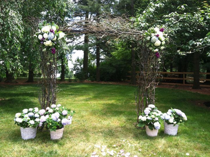 Nature inspired wedding arch.