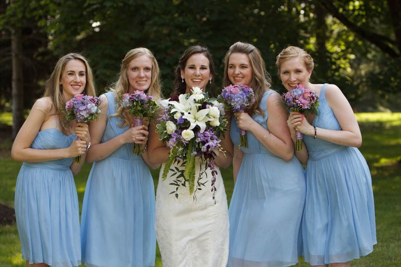 Noel with her Bridesmaids
