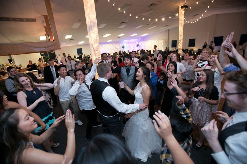 Mr. & Mrs. Dance huddle
