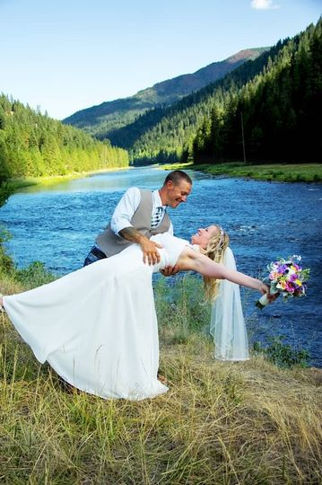 River dance lodge wedding ceremony reception venue for Wedding invitations idaho falls