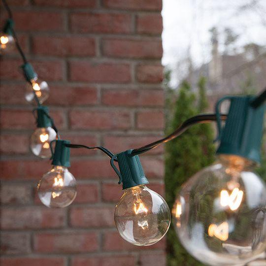 Cafe string lighting
