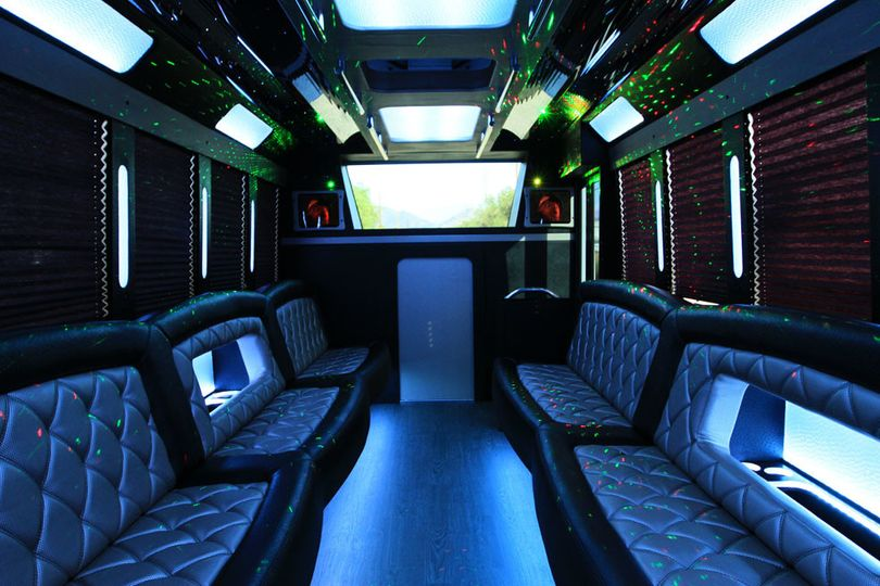 passenger party bus interior