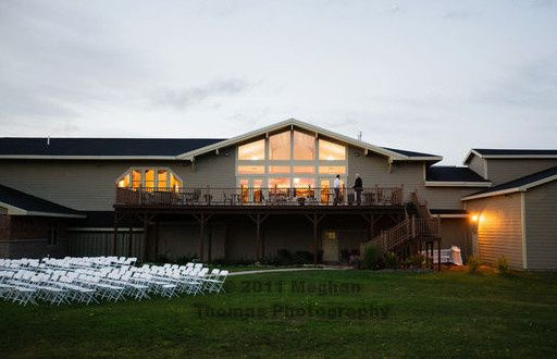 Ceremony setup on the lawn