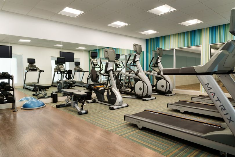 Stay on track with your fitness goals in our large fitness center.