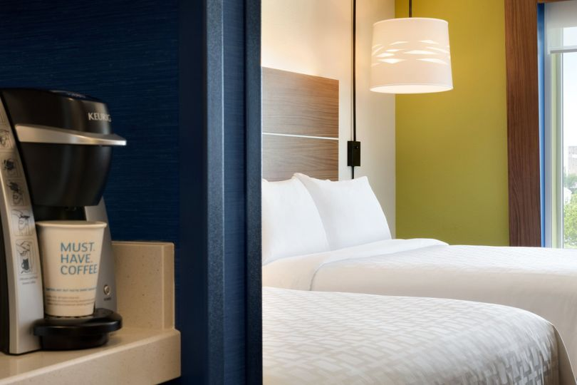 All of our rooms feature convenient amenities, including a microwave, mini-fridge and Keurig coffee...