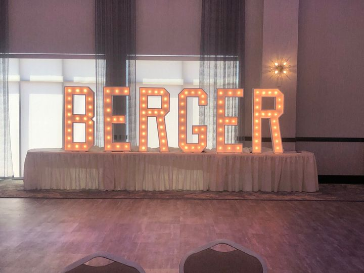 Fun Last Name Light Letters