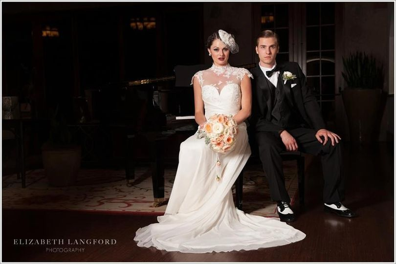 Editorial bridal shoot, Great Gatsby style
