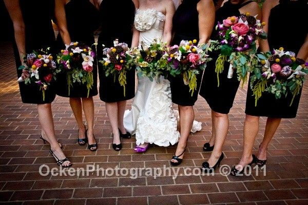 Bridemaids with the bride