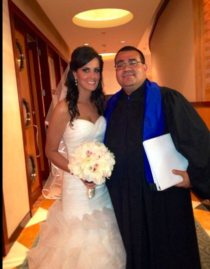 Bride with the reverend