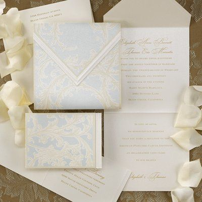 Garniture Wedding Invitations -  Designs of elegance grace the outside of this invitation while the...