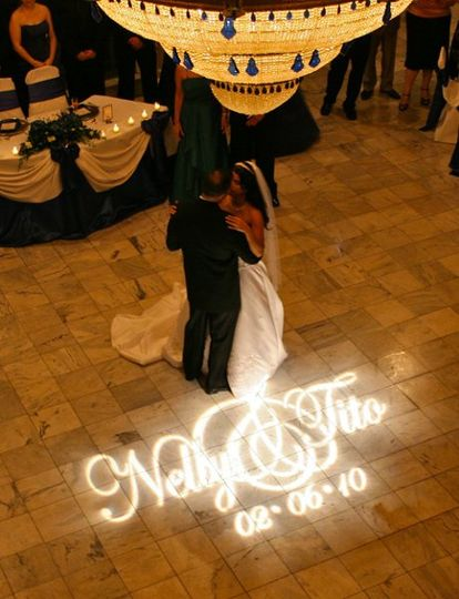 Custom Designed Monogram Gobo