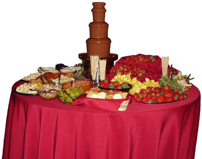 Chocolate fountain station