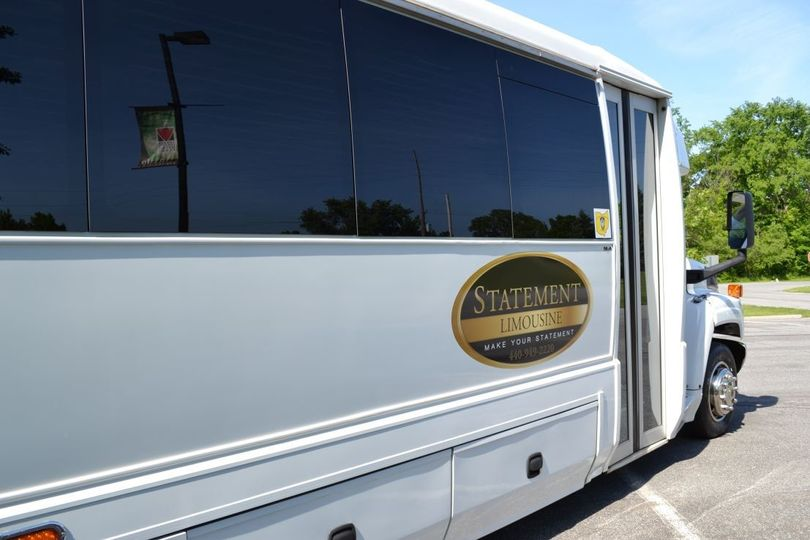 This limousine bus will comfortably accommodate up to a 30 person wedding party. The limo bus is...
