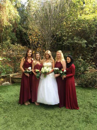 Kristen's bridal party
