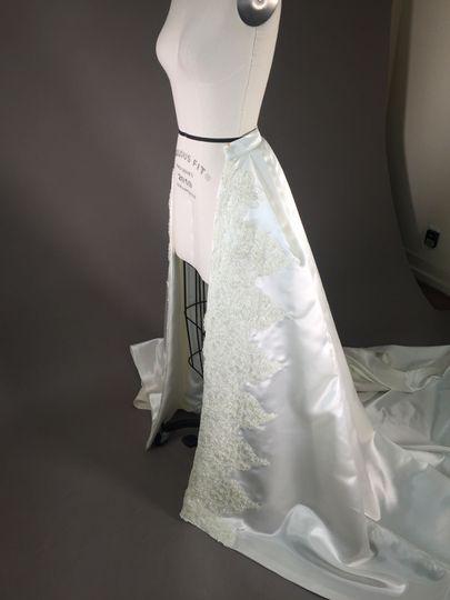 Custom over skirt side
