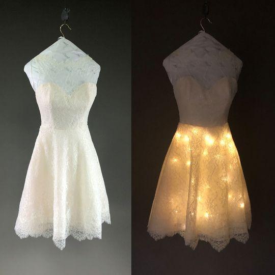 Custom light-up skirt