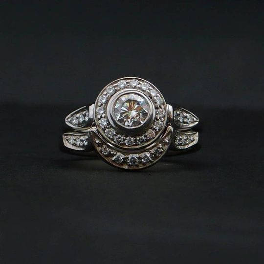 14K Palladium White Gold, VS Diamonds