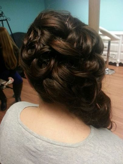 Final wedding hair look