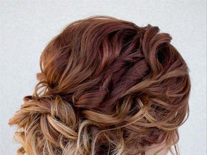 Tmx 1500237249155 Hair Updos Curly Elegant Updo For Long Hair Greenwich, CT wedding beauty
