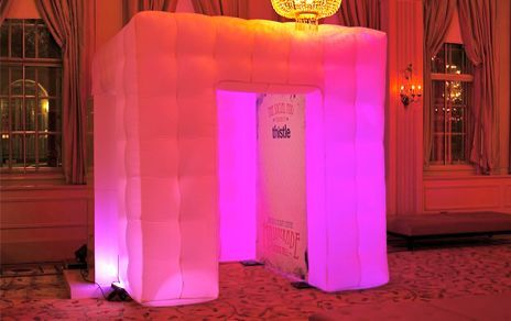 LED Inflatable Booth.It light up in many colors Bmore Photo booth rentals