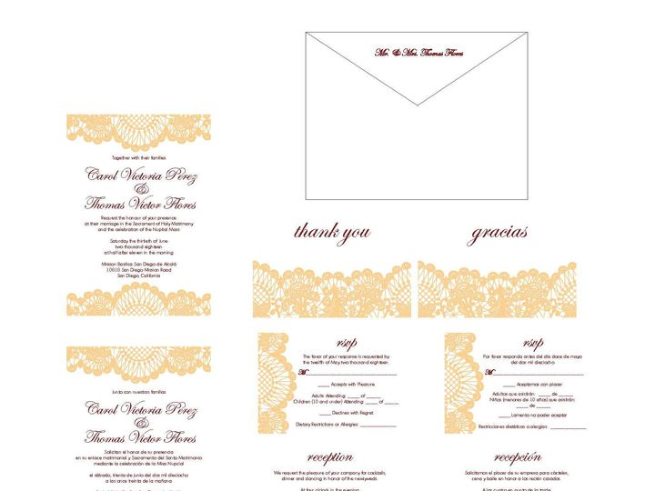 Tmx 1526006220 36a441fbd2f5fc15 1526006217 B7a30971de22b1ce 1526006210507 10 LaceBorder Rancho Cucamonga, California wedding invitation