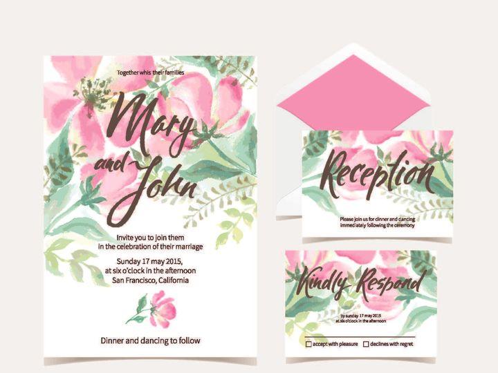 Tmx 1526006220 7b9292adf7df0913 1526006217 2e06b4187479b360 1526006210507 9 HawaiianWatercolor Rancho Cucamonga, California wedding invitation
