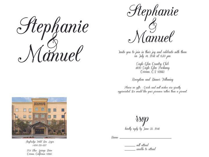 Tmx 1530851241 96a220f2b2695cc7 1530851239 7c826d6930a08f75 1530851236829 1 SimpleText Rancho Cucamonga, California wedding invitation