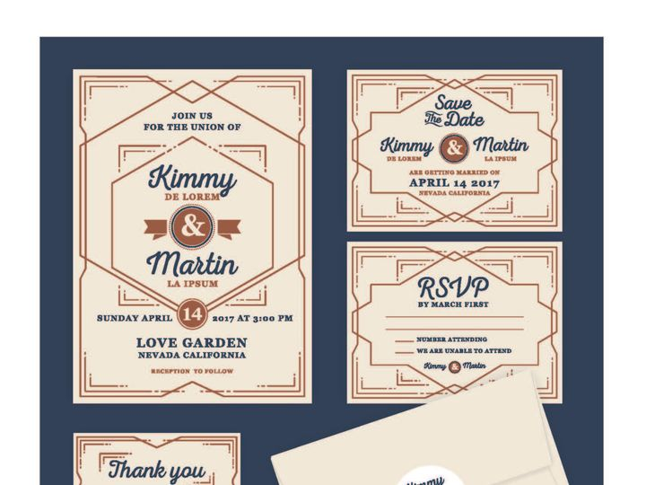 Tmx 1530851246 Cf9e44cd9cbddebd 1530851244 9ef1ed253b20fbe9 1530851236861 13 RetroLines Rancho Cucamonga, California wedding invitation