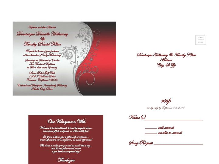Tmx 1530851251 707a8faad32f920b 1530851248 9732f552ce3097ff 1530851236852 7 SilverandRed Rancho Cucamonga, California wedding invitation