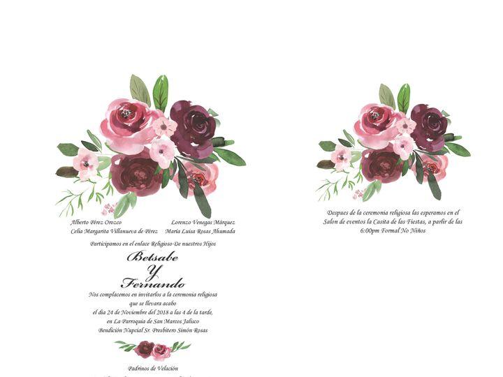 Tmx 1530851252 7039d69880c67c7d 1530851248 51bd1790ebce008c 1530851236856 9 WatercolorFlowersB Rancho Cucamonga, California wedding invitation