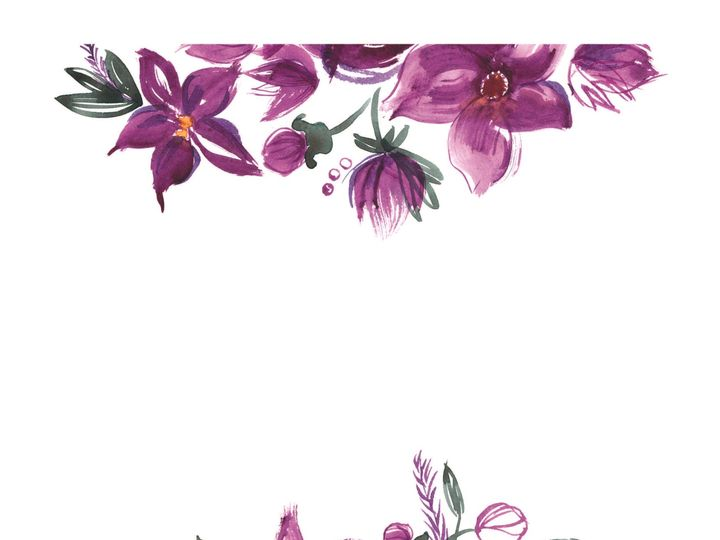 Tmx 1530851252 838d056851e6925e 1530851249 F6b1677d3ce365b9 1530851236860 11 WatercolorFlowers Rancho Cucamonga, California wedding invitation