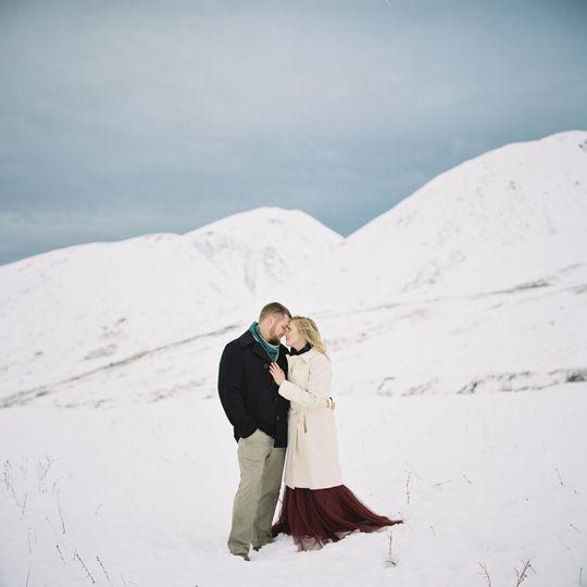Hatcher Pass Winter Engagement