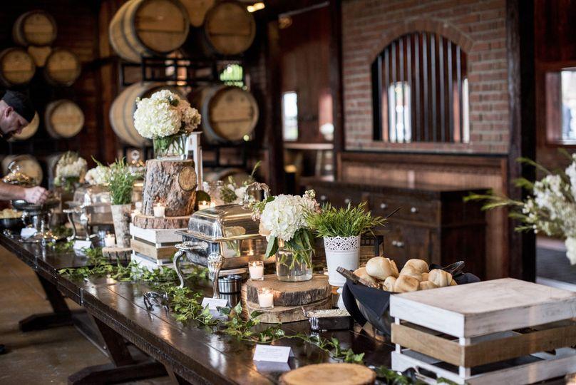 Wine Room Buffet Set up