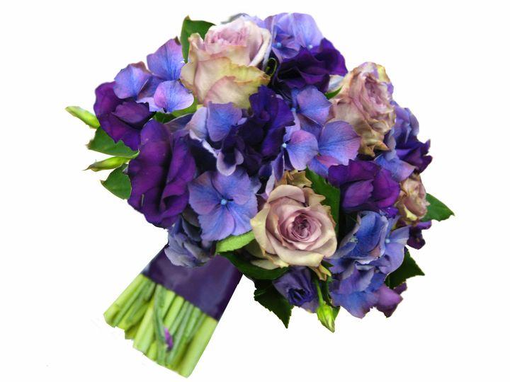 purple blue brides boquet 1