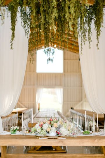 A captivating wedding space
