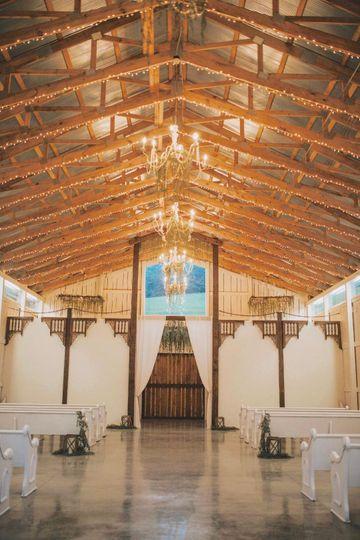 Inside the barn