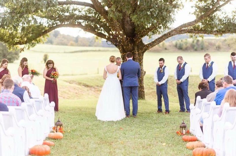 A ceremony beneath the oak tree