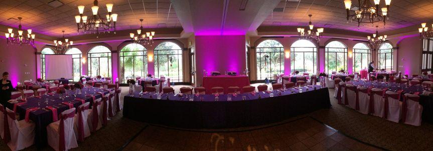 Reception set up and lighting