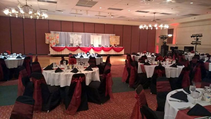 This wedding reception only used three of the four rooms available at the Round Barn Banquet Centre.