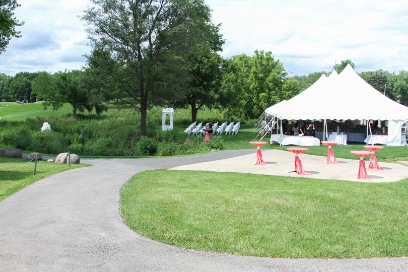 Outdoor event venue tent and space