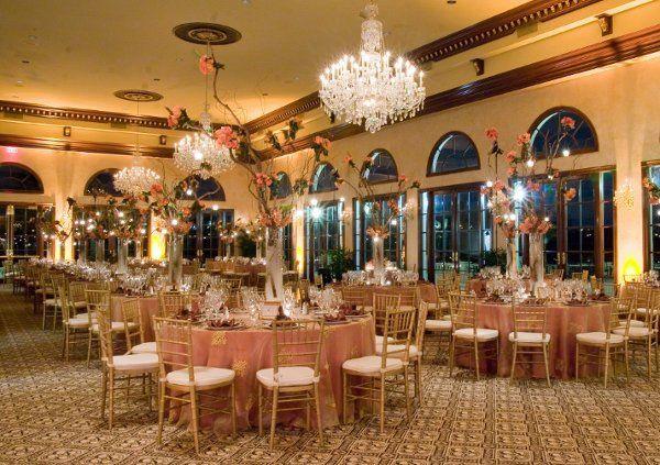 Trump Int Golf Club, Wedding  Hand Embroidered Gold Linens Crushed Taffeta Linens underneath Satin,...