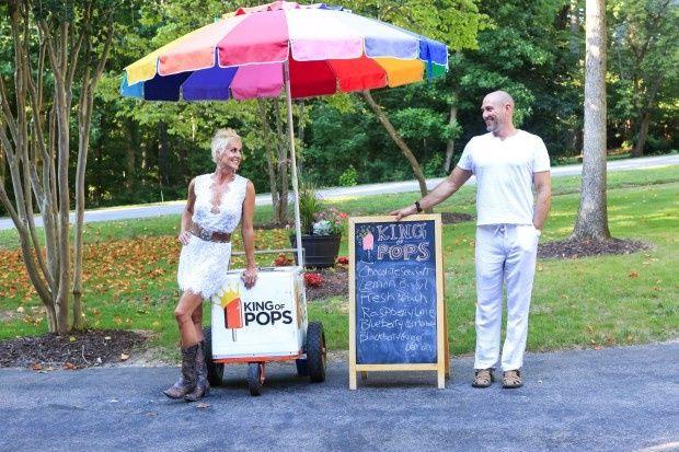 back yard wedding popsicles food trucks richmond v