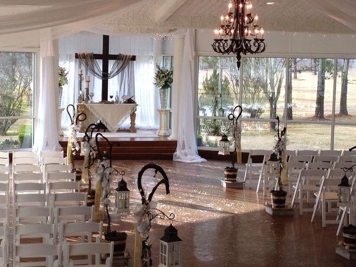 Wedding aisle and altar